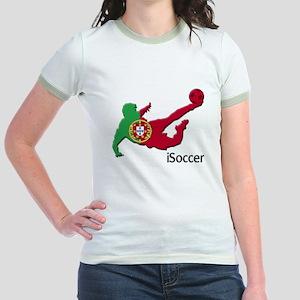 iSoccer Portugal Jr. Ringer T-Shirt