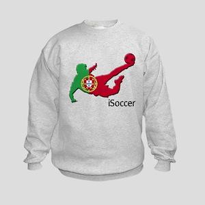 iSoccer Portugal Kids Sweatshirt