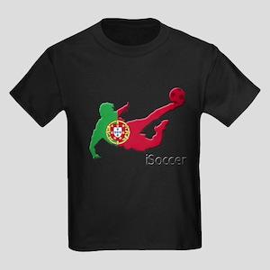 iSoccer Portugal Kids Dark T-Shirt