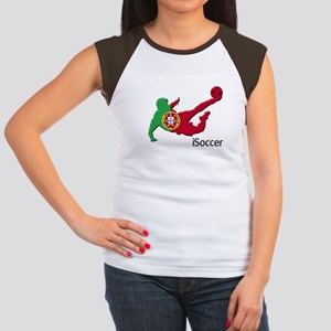 iSoccer Portugal Women's Cap Sleeve T-Shirt