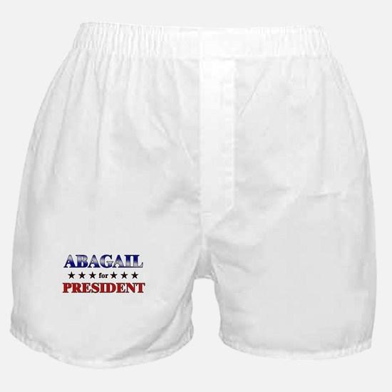 ABAGAIL for president Boxer Shorts