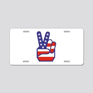Spirit of '76 Peace Aluminum License Plate