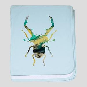 Stag Beetle baby blanket