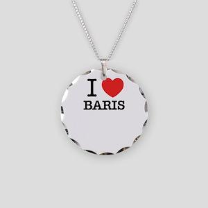 I Love BARIS Necklace Circle Charm
