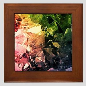 Amethyst Rainbow Framed Tile