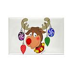 Christmas Reindeer Rectangle Magnet (10 pack)