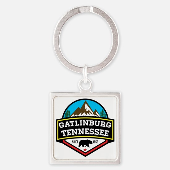 Cute Mountains Square Keychain