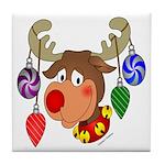 Christmas Reindeer Tile Coaster