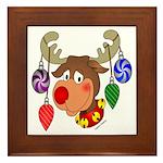Christmas Reindeer Framed Tile