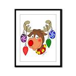 Christmas Reindeer  Framed Panel Print