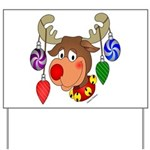 Christmas Reindeer Yard Sign