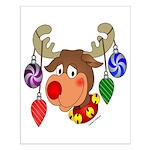 Christmas Reindeer Small Poster