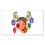 Christmas Reindeer Rectangle Sticker