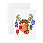 Christmas Reindeer Greeting Cards (Pk of 10)
