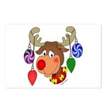 Christmas Reindeer Postcards (Package of 8)