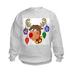 Christmas Reindeer Kids Sweatshirt
