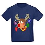 Christmas Reindeer Kids Dark T-Shirt