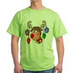 Christmas Reindeer Green T-Shirt