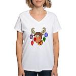 Christmas Reindeer Women's V-Neck T-Shirt