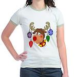 Christmas Reindeer Jr. Ringer T-Shirt