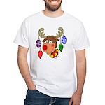 Christmas Reindeer White T-Shirt