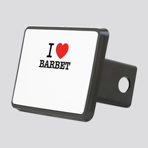 I Love BARBET Rectangular Hitch Cover