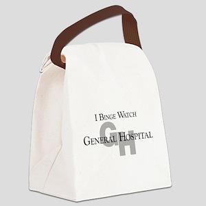 Binge Watch General Hospital Canvas Lunch Bag