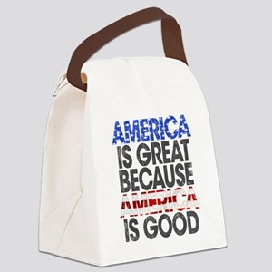 America is Great Canvas Lunch Bag