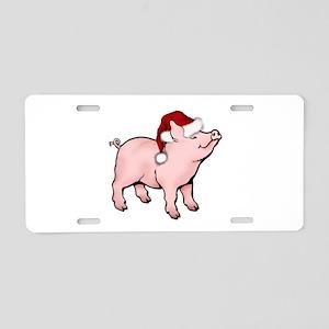 Santa Piglet Aluminum License Plate