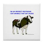Meat Eating Vegitarian Tile Coaster
