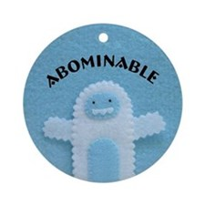 Abominable Ornament (Round)