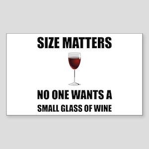 Size Matters Wine Sticker