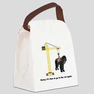 Newfie goes to the Vet Canvas Lunch Bag
