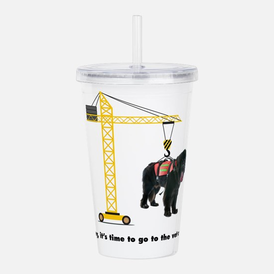 Newfie goes to the Vet Acrylic Double-wall Tumbler