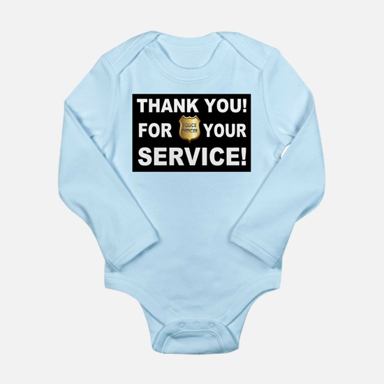 Police Officer Thank Y Long Sleeve Infant Bodysuit