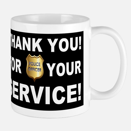 Police Officer Thank You Mug