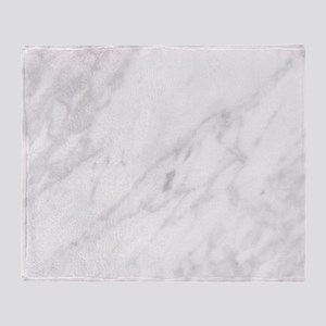 White Marble Throw Blanket