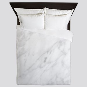 White Marble Queen Duvet