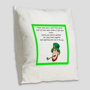 limerick Burlap Throw Pillow