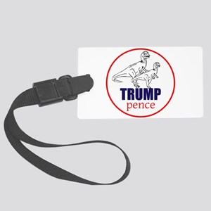 Trump/pence dinosaurs Luggage Tag