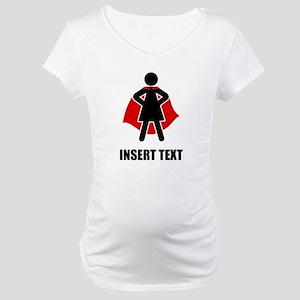 Superhero Woman Personalize Maternity T-Shirt