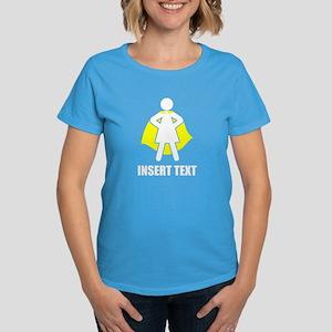 Superhero Woman Personalize Women's Dark T-Shirt