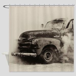 Smokin Truck Shower Curtain