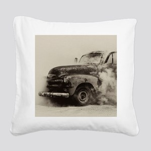 Smokin Truck Square Canvas Pillow