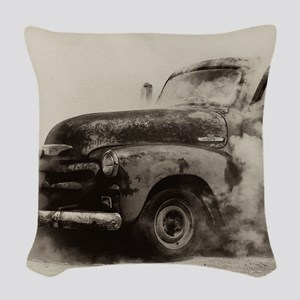 Smokin Truck Woven Throw Pillow
