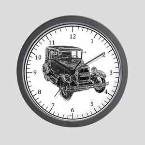 Ford Model A Chrome Wall Clock