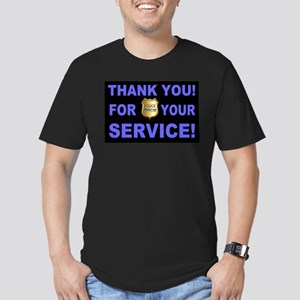 Police Officer Thank Y Men's Fitted T-Shirt (dark)