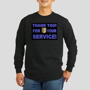 Police Officer Thank You Long Sleeve Dark T-Shirt