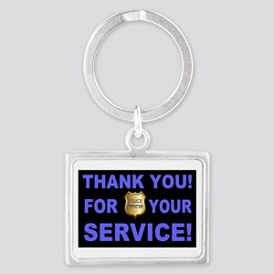 Police Officer Thank You Landscape Keychain