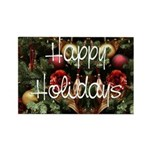 Happy Holidays Rectangle Magnet (100 pack)